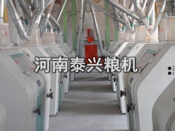 河北邯郸馆陶120吨面粉机安装案例