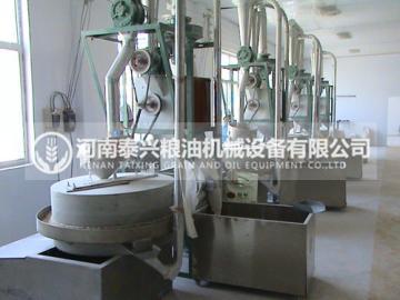 4组石磨面粉机设备