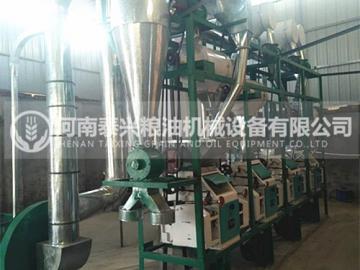 四川广元四组面粉机械设备安装案例