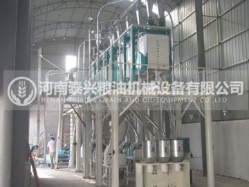 河南南阳40吨面粉机械设备安装案例